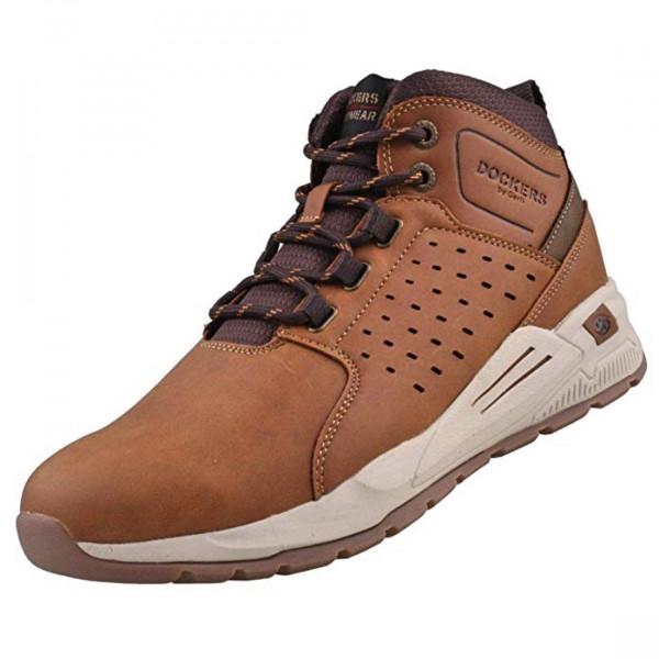 Dockers by Gerli Herren Hohe Sneaker 45AV005 Sneaker Mid Top Cognac