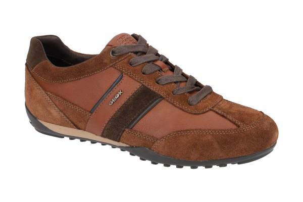 Geox Respira Herren U Wells C Low Top Sneaker Schnürer Halbschuhe Brown