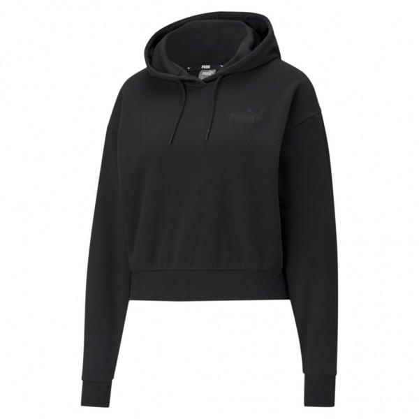 PUMA Damen ESS+ Embroidered Cropped Hoodie TR Sweatshirt Langarm