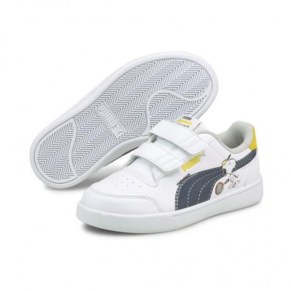 Puma PEANUTS Shuffle V PS Sneaker Sportschuhe Freizeitschuhe Klettverschluss