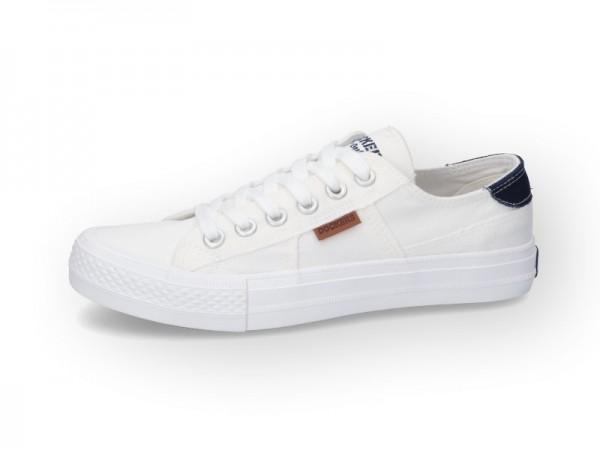 Dockers by Gerli Damen Sportiver Sneaker Skater Low Top Weiß Halbschuh
