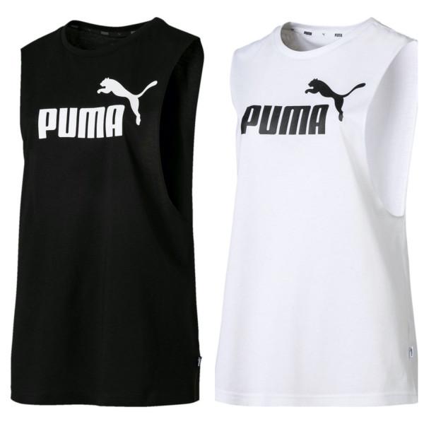PUMA Damen ESS+ Cut Off Logo Tank Tee / T-Shirt