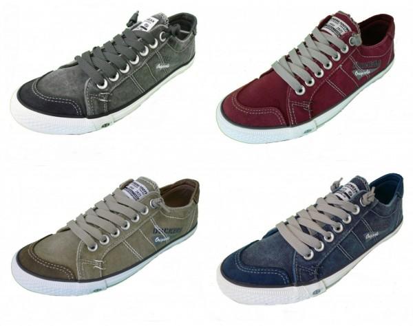 DOCKERS by Gerli Herren Sneaker Washed Canvas Schuhe viele Farben