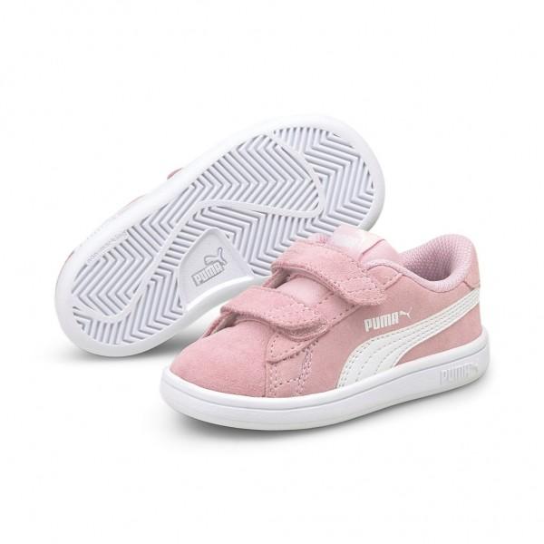 Puma Smash v2 SD V Inf Low Top Kinder Schuhe Sneaker Pink