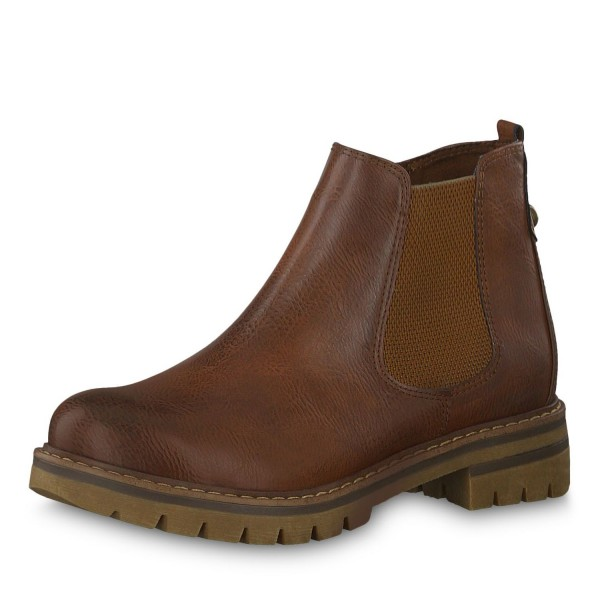 Marco Tozzi Damen Stiefeletten Chelsea Boots 2-26425-23 Chestnut A. C.