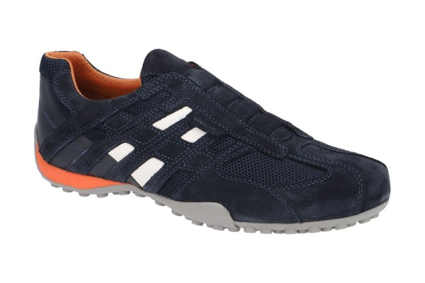 Geox Respira Uomo Snake Herren Sneakers Halbschuhe Slipper Navy Blau
