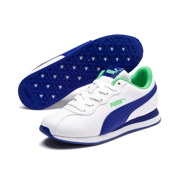 Puma Turin II Jr Unisex Sneaker Turnschuhe Low Top White Irish Surf the
