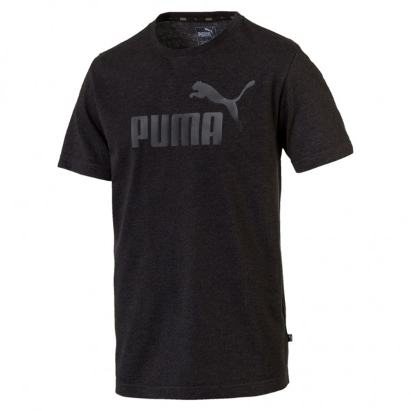 PUMA Essential Herren Ess Logo Heather Tee / T-Shirt Kurzarm