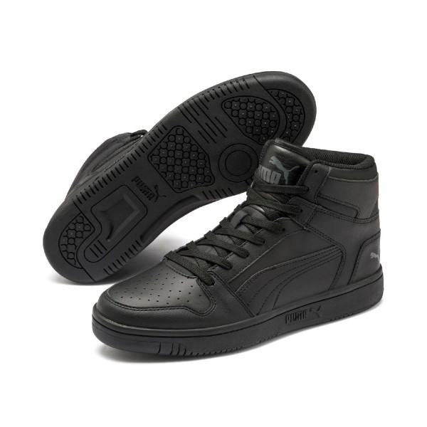 Puma Rebound LayUp Mid SL Unisex Schuhe Sneaker Mid Cut Schwarz