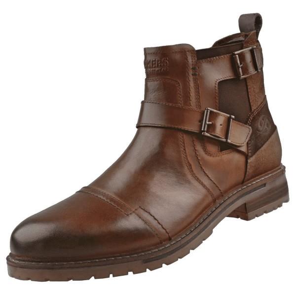 DOCKERS by Gerli Herren Schnallen Boots Stiefelette Stiefel Cognac