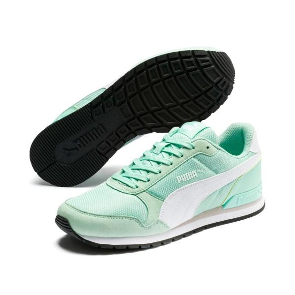 Puma Damen ST Runner v2 Mesh Sneaker Low Turnschuhe Mist Green