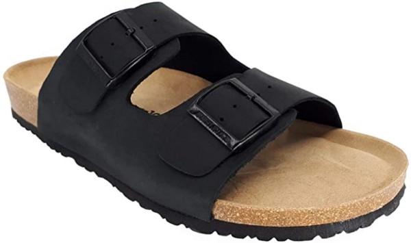 JOE N JOYCE London Sandale Sandalette Hausschuhe SynSoft Komfort Schwarz
