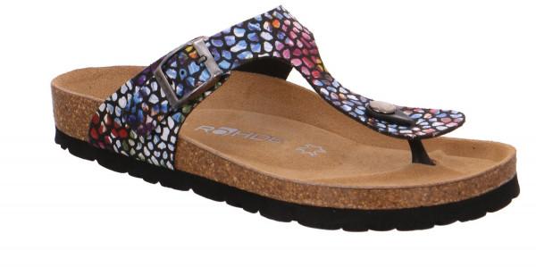 Rohde Alba Damen Sandale Sandalette Zehentrenner Multicolour