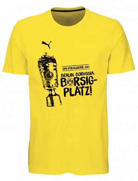 PUMA Woman / Damen BVB WINNER TEE Pokalfinale 2017 / T-Shirt
