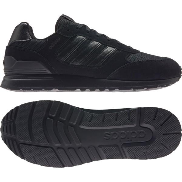 adidas Herren RUN 80s Sneaker Turnschuhe Freizeitschuhe Sportschuhe Schwarz