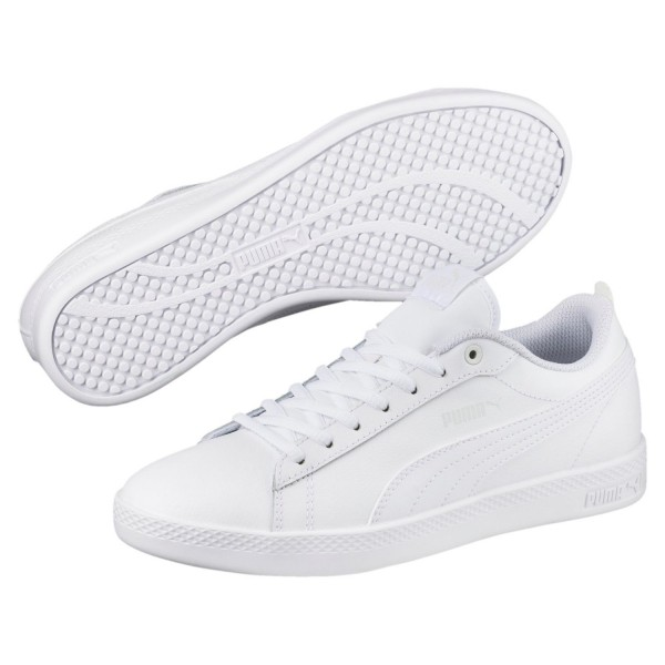 Puma Smash v2 L Was Damen Sneaker Retro Turnschuhe