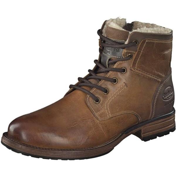 DOCKERS by Gerli Herren Combat Boots Stiefelette Stiefel Used Look