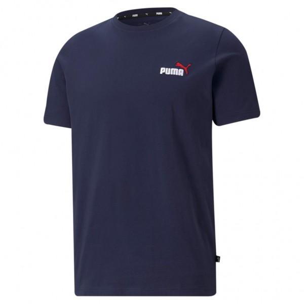 PUMA Herren ESS+ Embroidery Logo Tee / T-Shirt Kurzarm