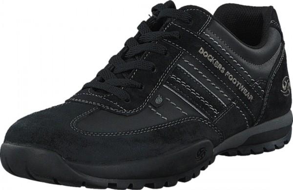 Dockers by Gerli Herren Halbschuhe Sneakers Schuhe Schnürschuhe Schwarz Grau