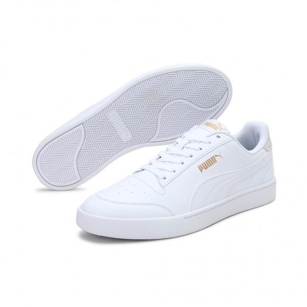 Puma Damen Shuffle Fashion Sneaker | White - White - Puma Team Gold