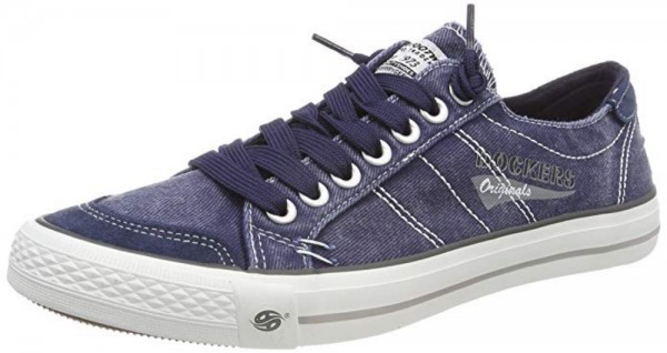 DOCKERS by Gerli Herren Sneaker Washed Canvas Schuhe Navy