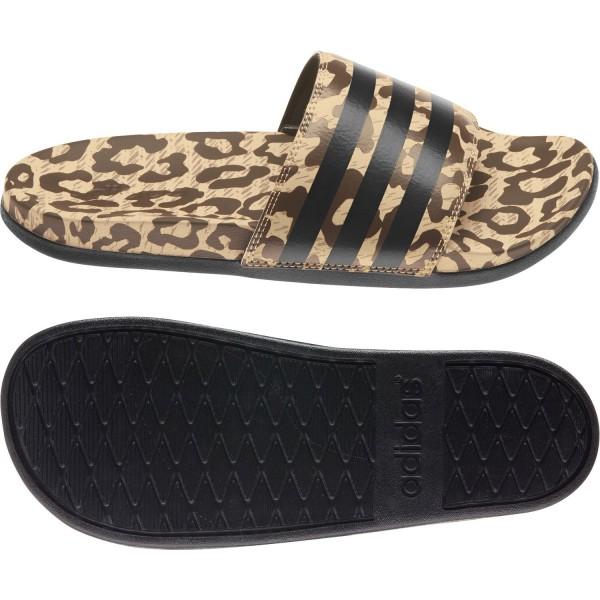 adidas Adilette Comfort Pantolette Sandale Slides CF Leo Print