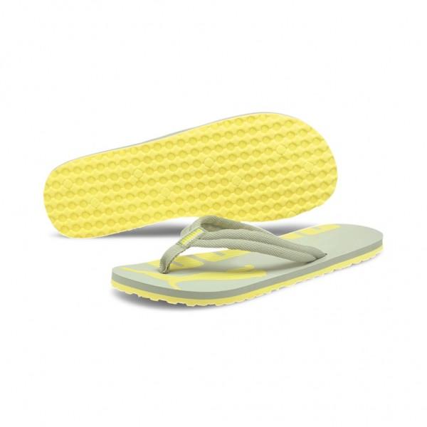 PUMA Zehentrenner EPIC Flip v2 Unisex Gelb Desert Sage - Celandine