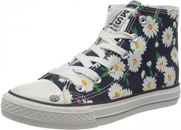 DOCKERS by Gerli Kinder Damen High Top Sneaker Schuhe Freizeitschuhe Blumen
