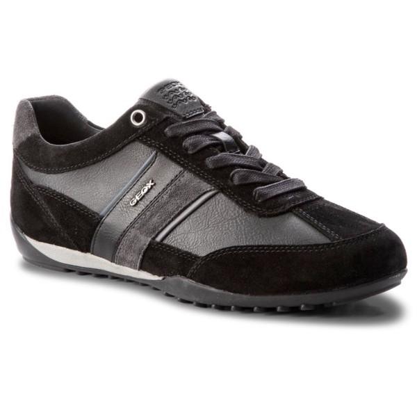 Geox Respira Herren U Wells C Low Top Sneaker Schnürer Halbschuhe Black