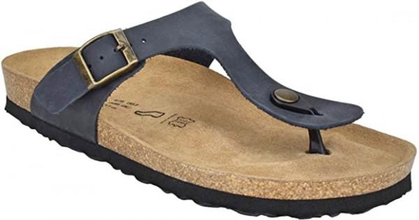 JOE N JOYCE Rio Unisex Zehentrenner-Sandalen mit Komfortfussbett Nachtblau