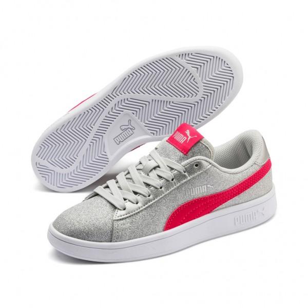 Puma Smash v2 Glitz Glam Jr Low Top Kinder Sneaker Turnschuhe