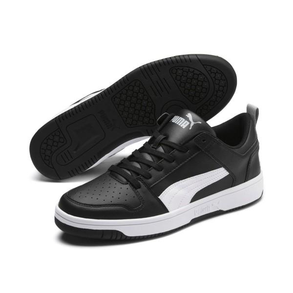 Puma Rebound LayUp Lo SL Schuhe Sneaker Schwarz Weiß