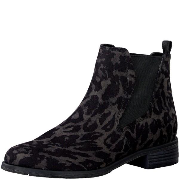 Marco Tozzi Damen Stiefeletten Chelsea Boots 2-25321-33 DK. Grey Leoprint