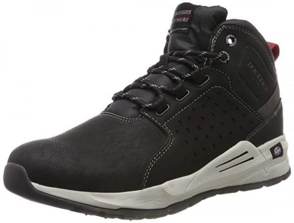 Dockers by Gerli Herren Hohe Sneaker 45AV001 Sneaker Mid Top Schwarz
