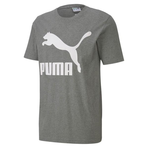 PUMA Herren Classic Logo Tank Tee / T-Shirt Medium Gray Heather Grau
