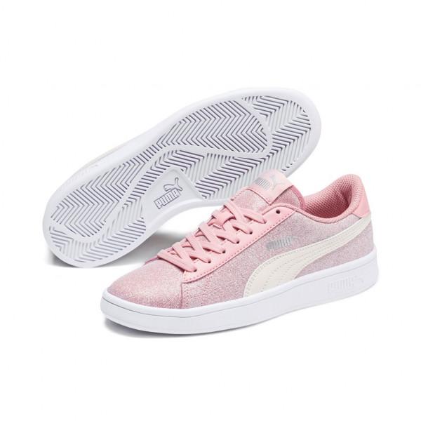 Puma Smash v2 Glitz Glam Jr Low Top Damen Kinder Sneaker Turnschuhe Bridal Rose