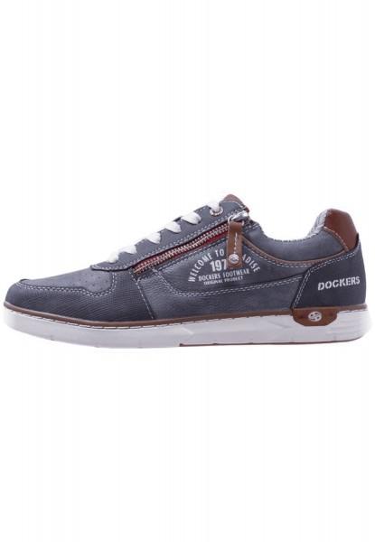 Dockers by Gerli Herren Sneakers Halbschuhe Navy Blau Grau