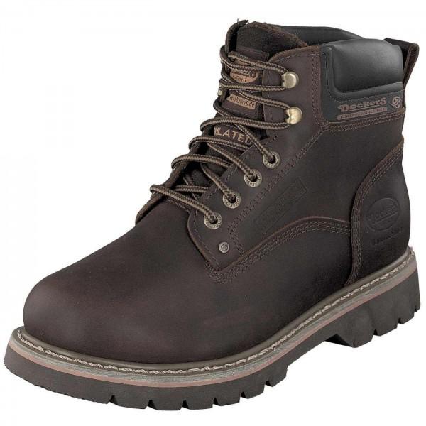 Dockers by Gerli Herren Combat Desert Boots Stiefel Warmfutter Cafe