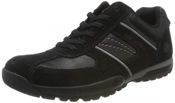 Dockers by Gerli Herren Halbschuhe Sneakers Schuhe Schwarz Grau