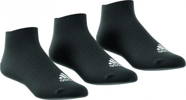 adidas Männer Damen Kinder Ankle Rib T 3er Pack Sportsocken Sneakersocken Schwarz AA2312