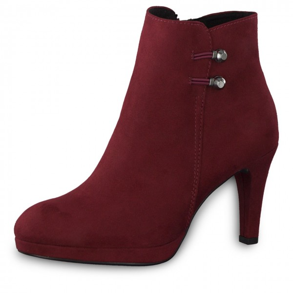 Marco Tozzi Damen Stiefeletten Ankle Boots High Heel 2-25342-33 Chianti Rot