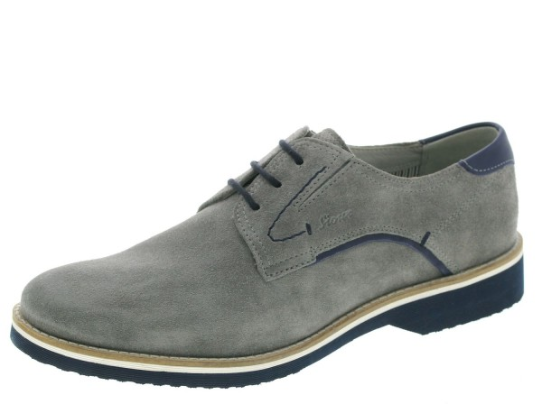 Encanio-702 Derby Schuhe by SIOUX GERMANY 36361 Grau Velourleder Leichtgummisohl