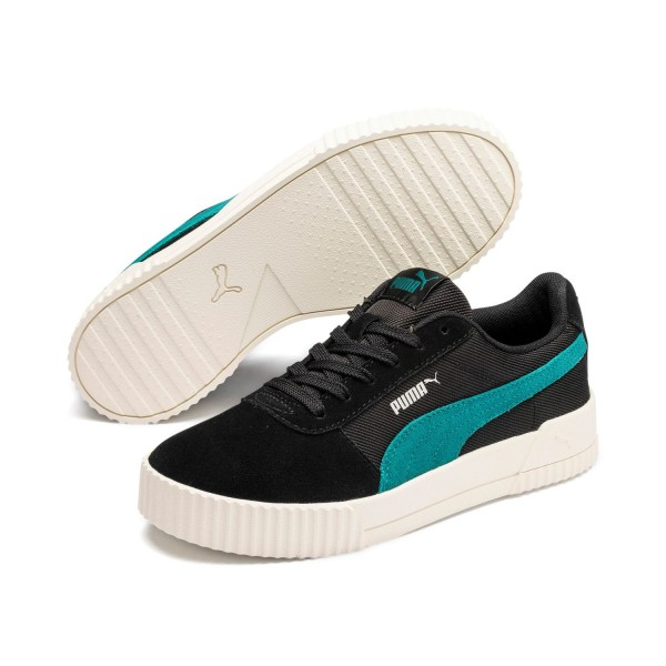 Puma CARINA Lux SD Damen Streetstyle Sneaker Clubwear Black Green