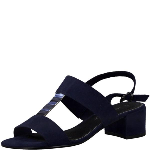 Marco Tozzi Damen Sandaletten Sandalen Navy Comb Blau