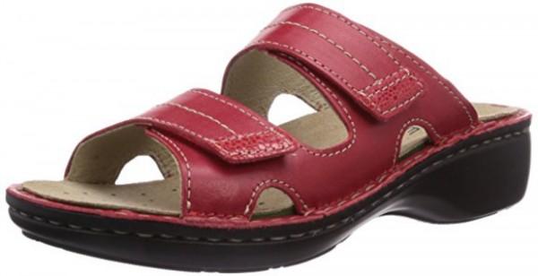 Rohde Mainz Damen Clogs Sandale Pantolette 5777 Wechselfußbett Rot
