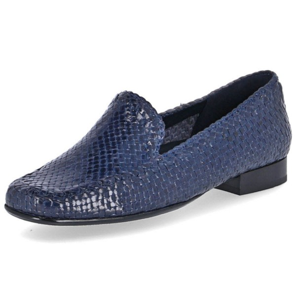 SIOUX Germany Damen Schuhe Slipper 60561 Cordera, Jeans Blau