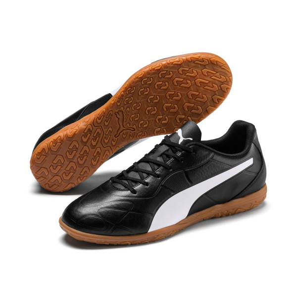 Puma MONARCH IT Indoor Fußballschuhe Schuhe Sneaker 105675 Puma Black White