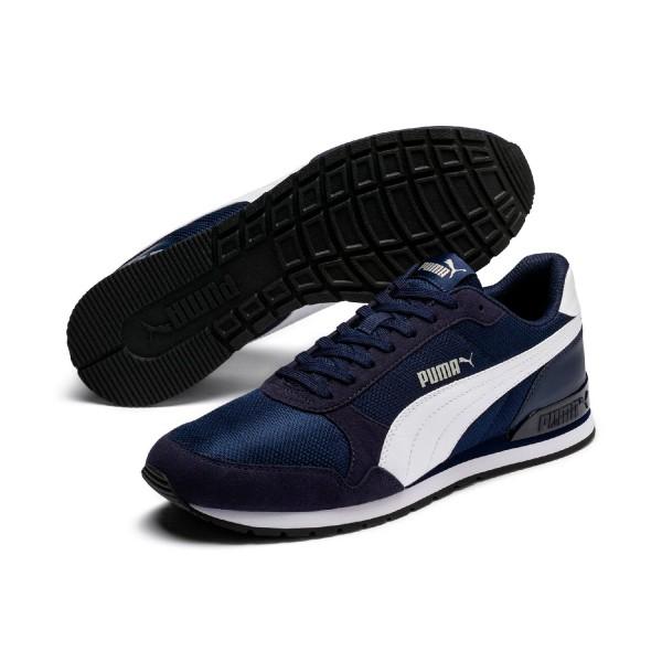 Puma Unisex ST Runner v2 Mesh Sneaker Low Turnschuhe Peacoat Blau