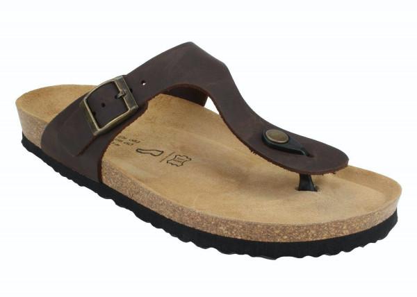 JOE N JOYCE Rio Unisex Zehentrenner-Sandalen mit Komfortfussbett Braun