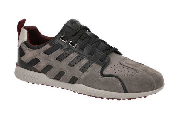 Geox Respira Sport Snake 2 Herren Sneakers Halbschuhe Stone / Black